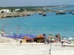 Panorama di San foca - la spiaggia