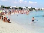 La spiaggia in estate